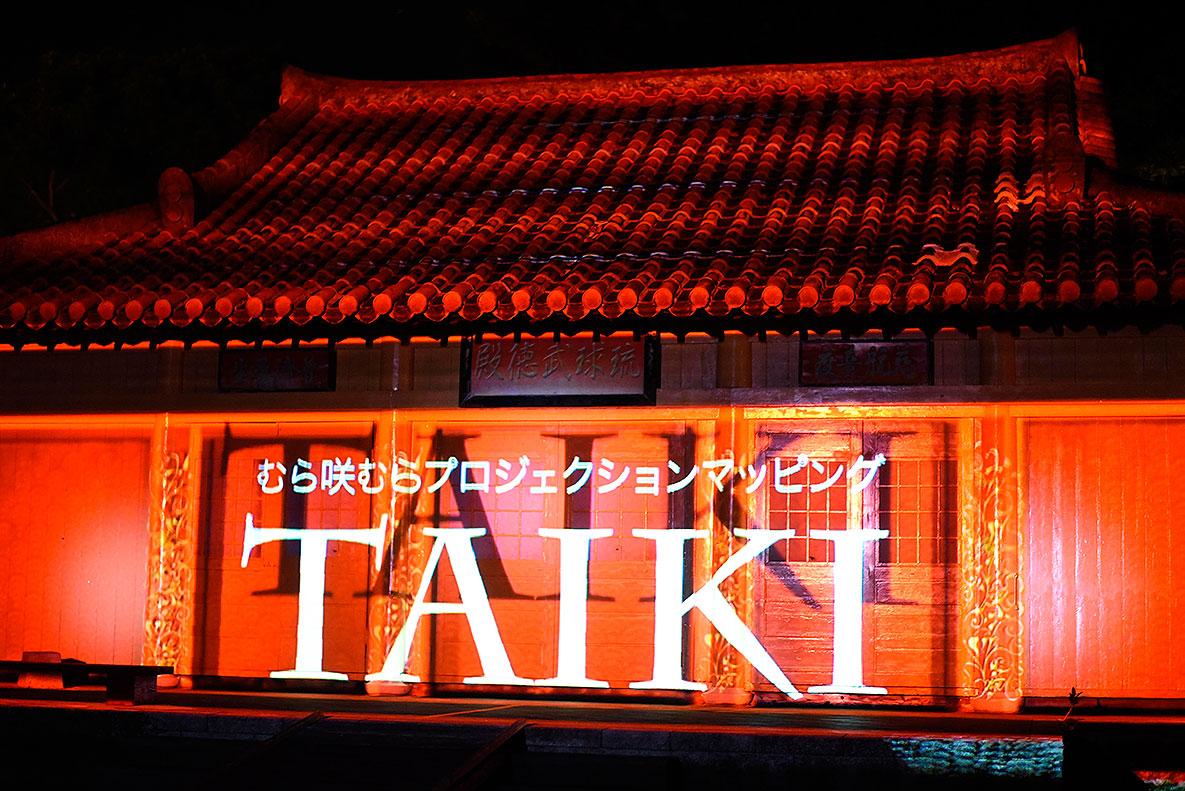 プロジェクションマッピング TAIKI